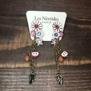 Les Nereides Flower Apple Dangle Earrings
